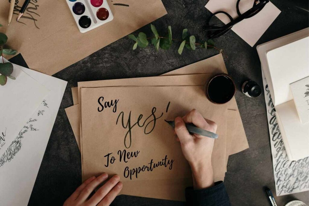 Say yes to new opportunity